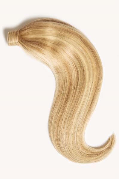 """Beach Blonde Highlighted, 16"""" Clip-in Ponytail Hair Extensions, P613/18 