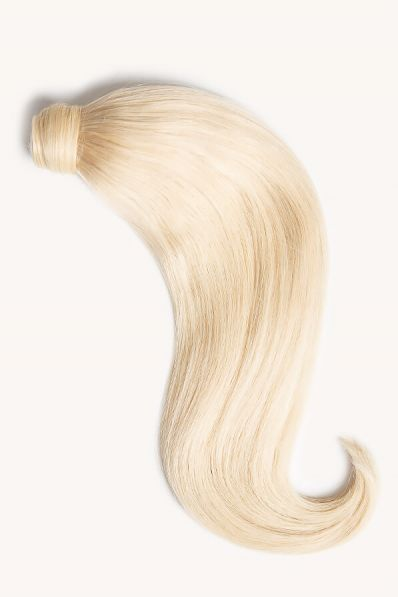 """Bleached Blonde, 16"""" Clip-in Ponytail Hair Extensions, #60 