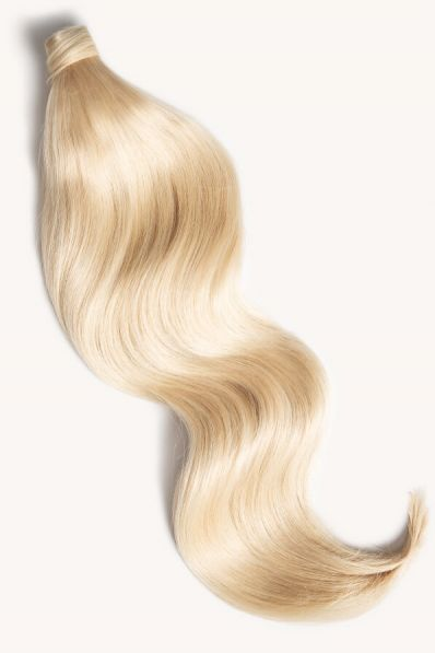 """Bleached Blonde, 24"""" Clip-in Ponytail Hair Extensions, #60 