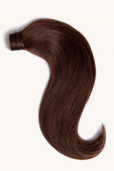 """Chocolate Brown, 16"""" Clip-in Ponytail Hair Extensions, #4   120g"""