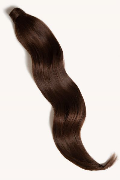 """Chocolate Brown, 32"""" Clip-in Ponytail Hair Extensions, #4   180g"""