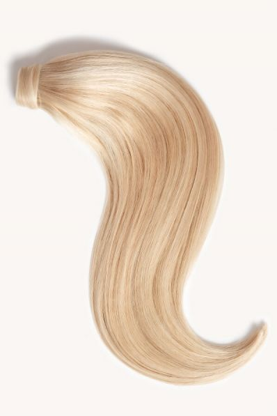 """Light Blonde Highlighted, 16"""" Clip-in Ponytail Hair Extensions, F60/24 