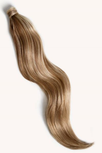 """Medium Blonde Highlighted, 32"""" Clip-in Ponytail Hair Extensions, P6/16/613   180g"""