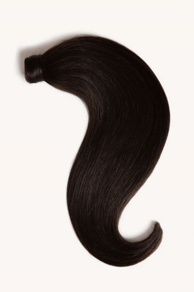 """Natural Black, 16"""" Clip-in Ponytail Hair Extensions, 1B   120g"""