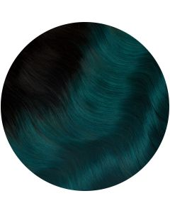 teal ombre single weft hair extensions kiss the girl 16 18 inches