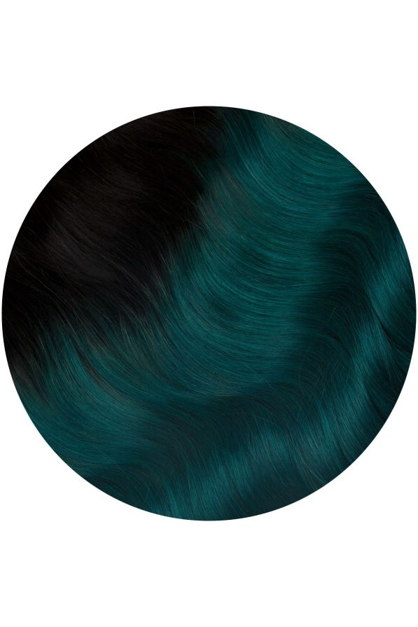 teal ombre single weft hair extensions kiss the girl 20 22 inches