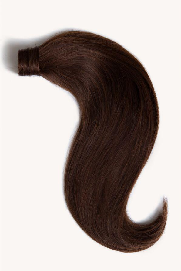 "Dark Brown, 16"" Clip-in Ponytail Hair Extensions, #2 | 120g"
