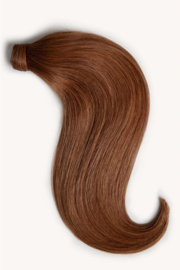 Rich auburn hair 16 inch clip-in ponytail extensions human hair M30-130