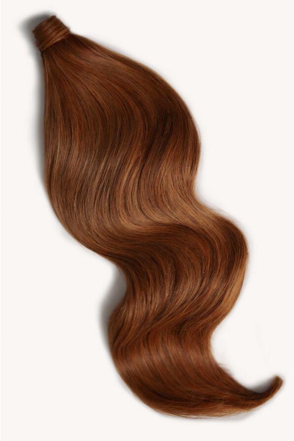 Rich auburn hair 24 inch clip-in ponytail extensions human hair M30-130