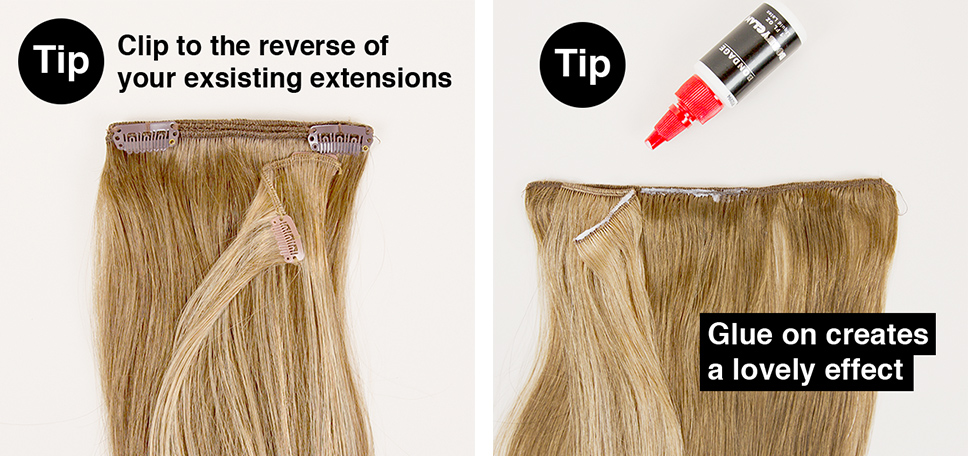 how to highlight hair extensions