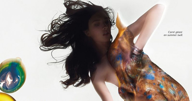 Hermes Campaign Wearing Hair Extensions