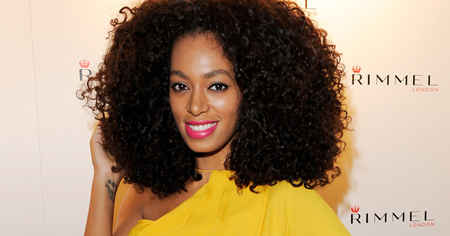 Solange Knowles Wearing Hair Extensions