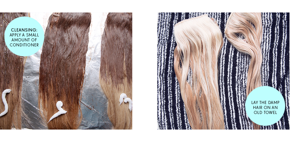 ombre hair extension guide step cleansing dry