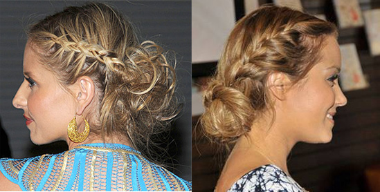 Braided-Side-Bun-Hairstyle