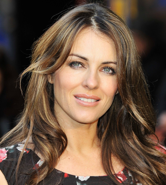 Brown-Hair-Extensions-Elizabeth-Hurley