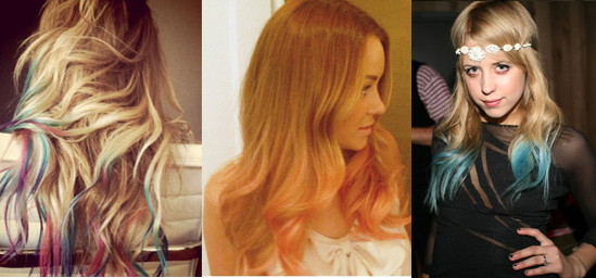 Shade trends of 2011 hair extensions blog hair tutorials hair dip dye trend solutioingenieria Images
