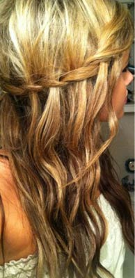 Halloween-Hair-Waterfall-Braid