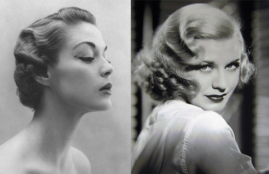 1920s Pin Up Hairstyles Vintage pin-up hairstyles