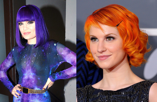 Hayley-Williams-Jessie-J-Bright-Hair