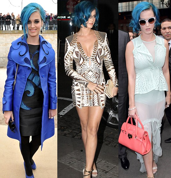 katy perry�s hair at paris fashion week hair extensions