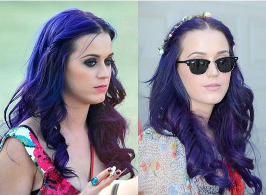 Katy Perry Hair Styles: Katy Perry's Purple Hair