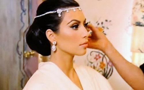 Kim Kardashian Chignon Hair