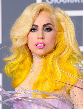 Lady-Gaga-Coloured-Hair