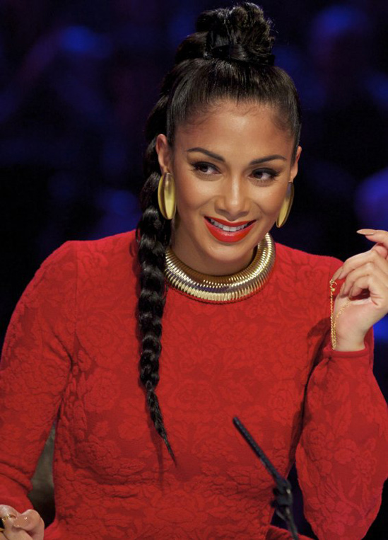 Nicole-Scherzinger's-Hair-Braid-X-Factor