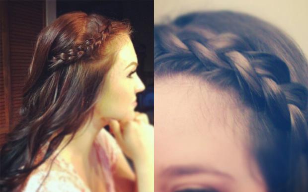 Dutch Braided Bang Hair Tutorial Hair Extensions Blog Hair
