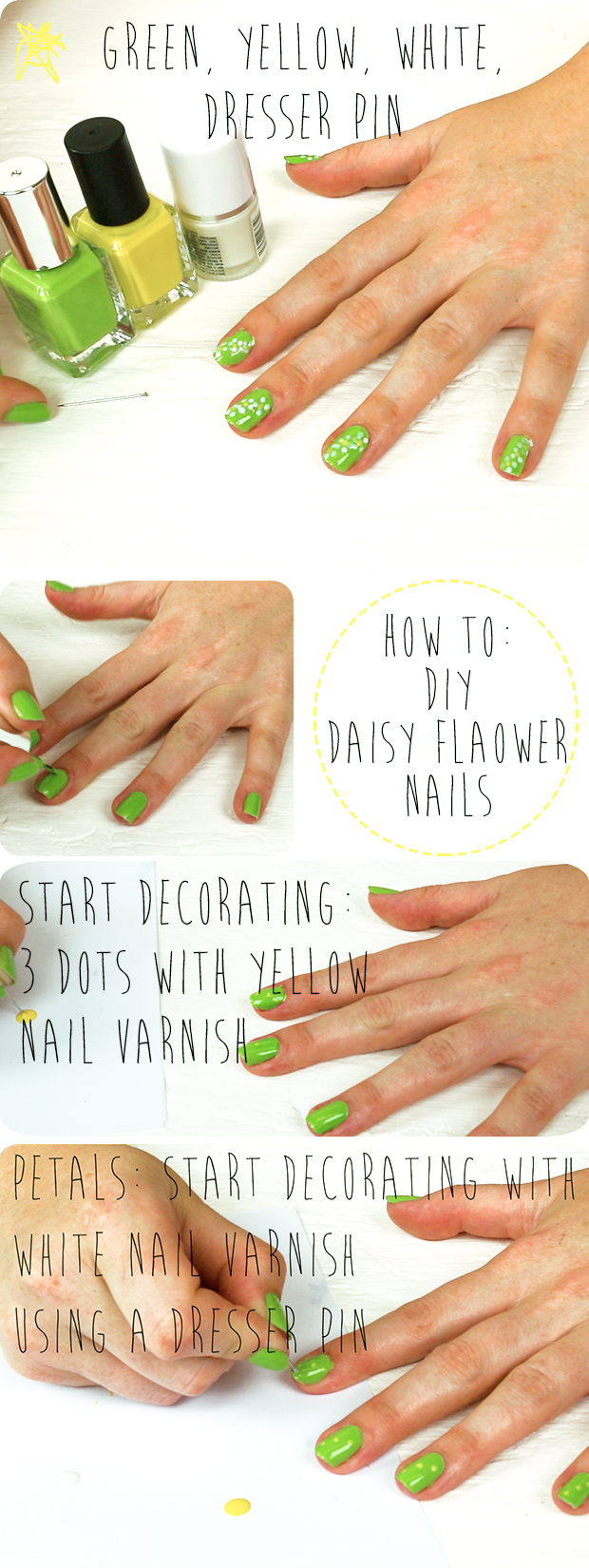HOW TO: DIY Daisy Nails