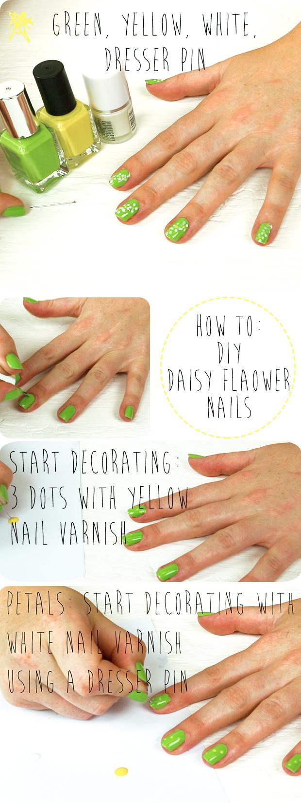 HOW TO: DIY Daisy Nails