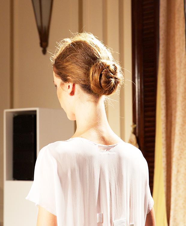 Minimalistic hairstyles at London Fashion Week