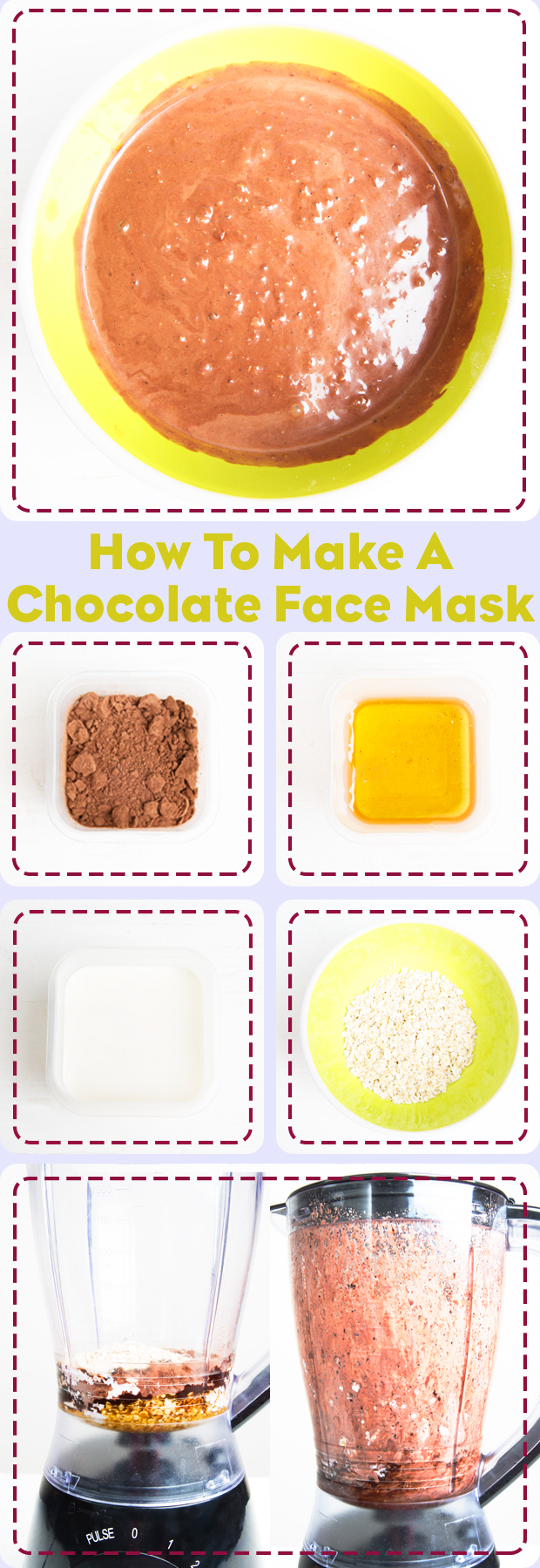 How to make a chocolate face mask