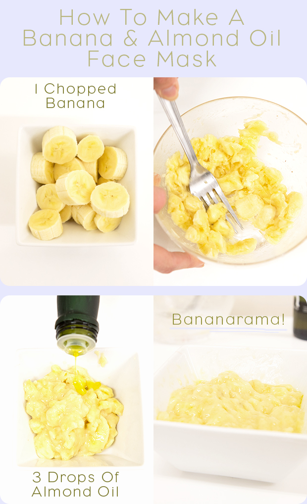 How To Make A Banana Almond Oil Face Mask Hair
