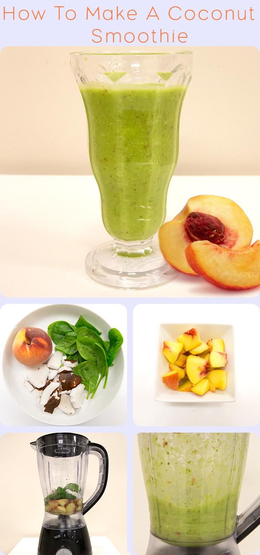 How to make a coconut & peach smoothie