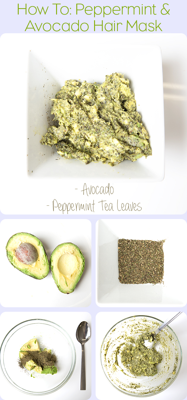 How to make a peppermint & avocado hair mask