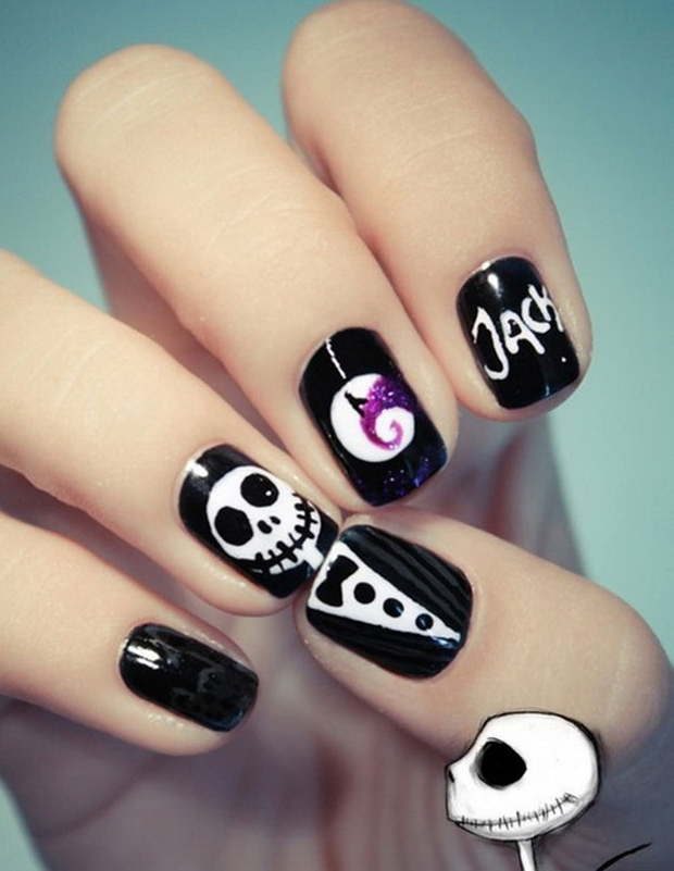 5 halloween nail art hair extensions blog hair tutorials halloween nail art prinsesfo Gallery