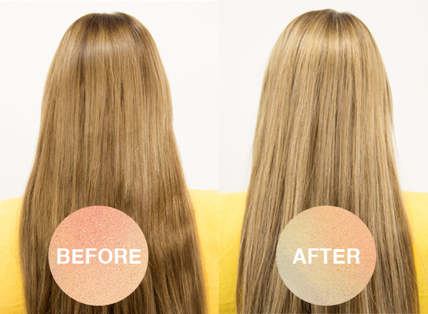 before and after hair extension highlights and blusher wefts
