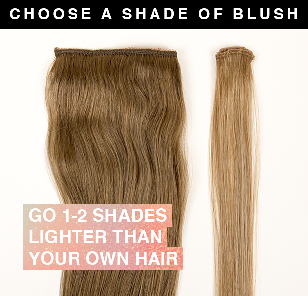 highlighted hair extensions