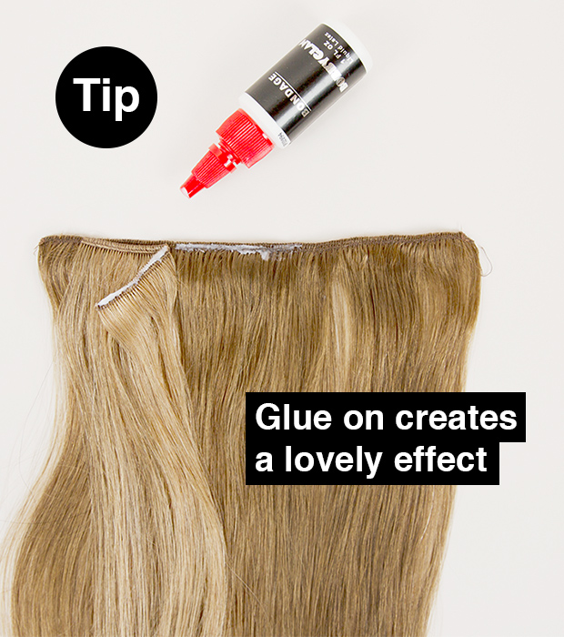 how to glue on hair extensions