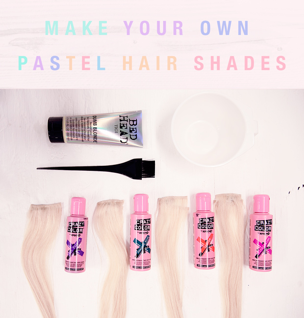 How to make pastel colours on hair extensions with renbow crazy make your own pastel hair pmusecretfo Gallery