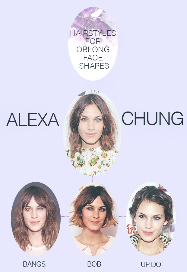 Hair to suit oblong face shapes