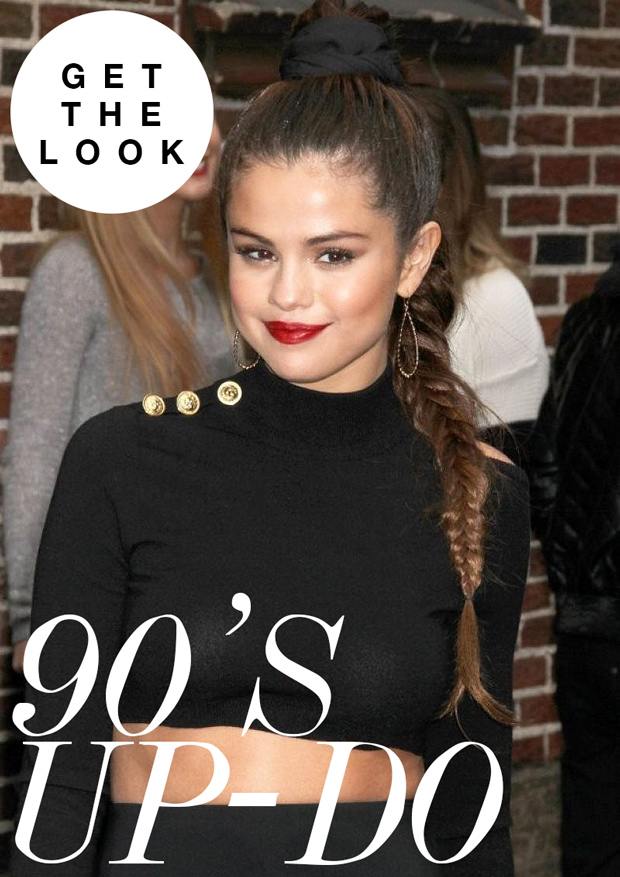 Get The Look Selena Gomez S 90s Updo Hair Extensions