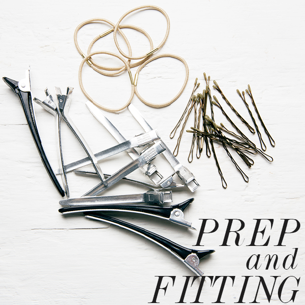 preparation and fitting hair extensions to make them blend