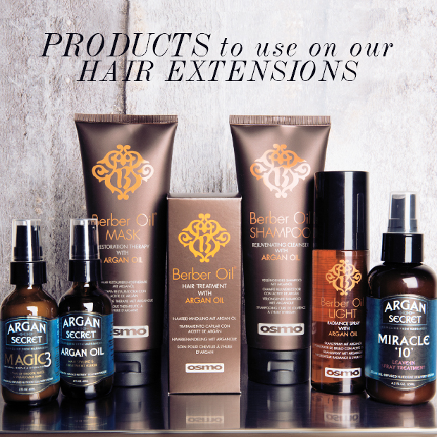 Products for hair extensions