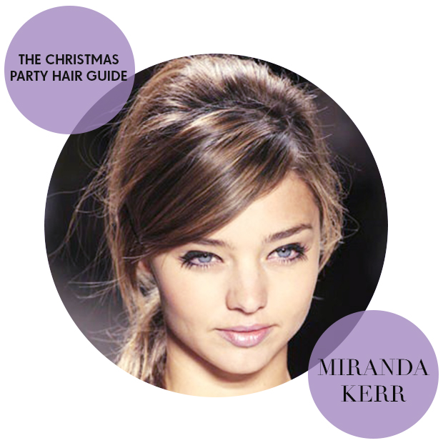 Christmas party hair guide@ Miranda Kerr's hair