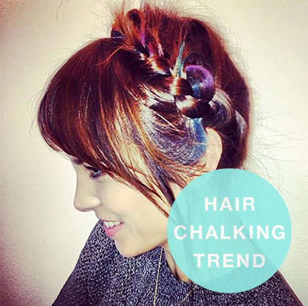 Hair Chalking Trend