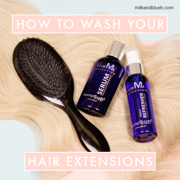 How To Wash Your Hair Extensions Hair Extensions Blog Hair