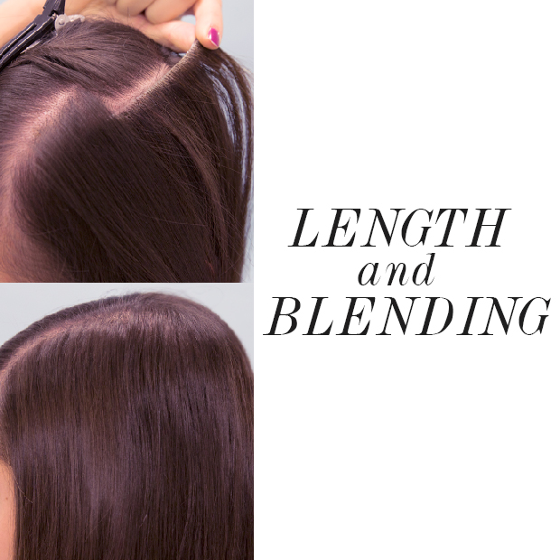 length and blending hair extensions into your hair