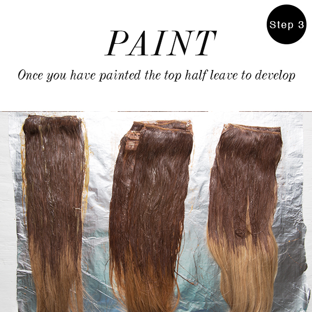 Step Three The Best Way To Ombre Hair Extensions